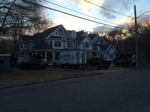 Large home siding replacement