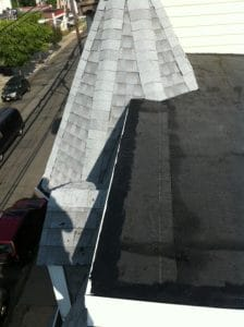 Complex roof installation