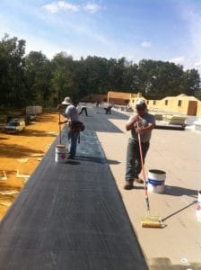 Commercial rubber roof
