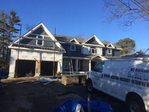 Stone and siding installation