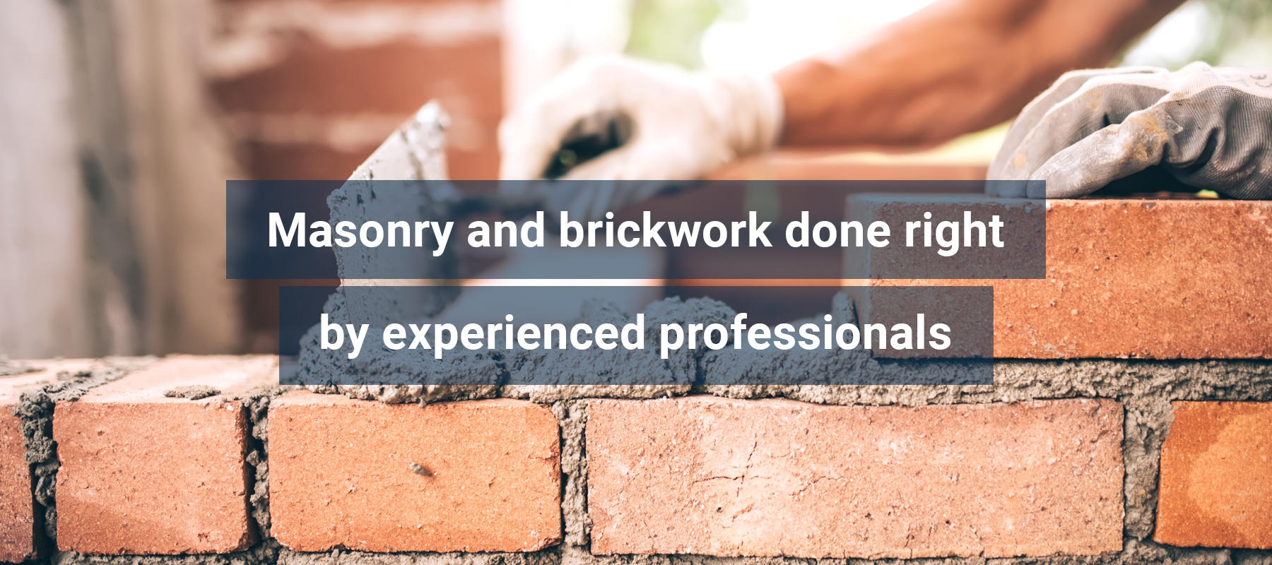 Brickwork, bricks and brick installation