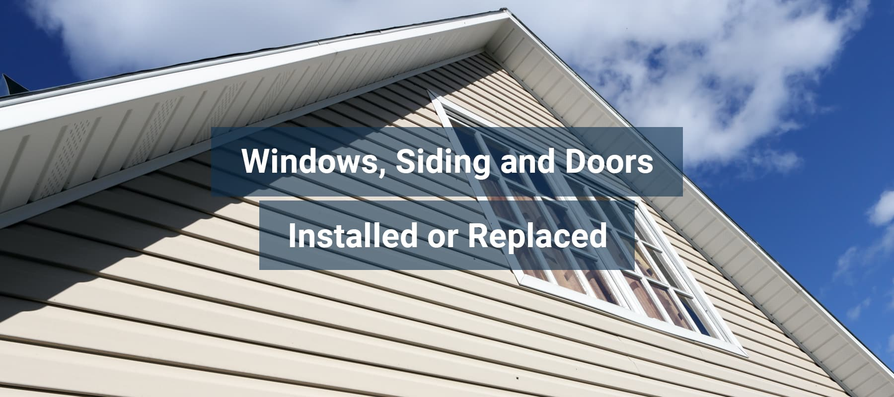Windows, Siding and Doors